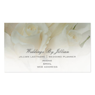 Wedding Planner Business Card - White Roses