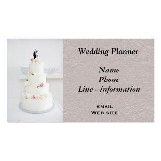 Wedding planner - business cards