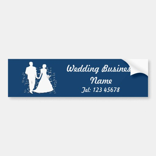Wedding Planner Business Theme Collection Bumper Stickers