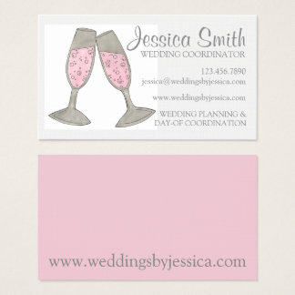 Wedding Planner Coordinator Pink Champagne Card