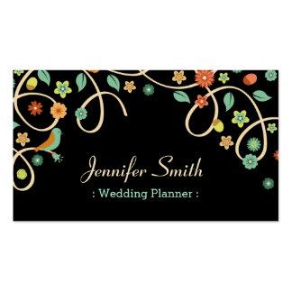 Wedding Planner - Elegant Swirl Floral Pack Of Standard Business Cards