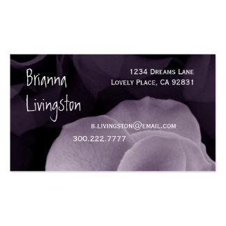 Wedding Planner LAVENDER PURPLE Rose emplate Pack Of Standard Business Cards
