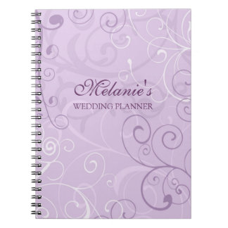 Wedding Planner Lavender Swirls Notebook