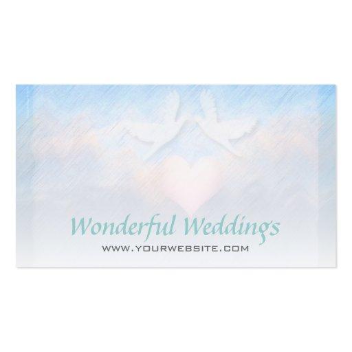Wedding Planner Light Heart Doves Business Card