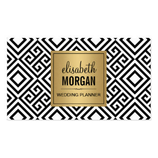 Wedding Planner - Modern Abstract Gold Logo Pack Of Standard Business Cards