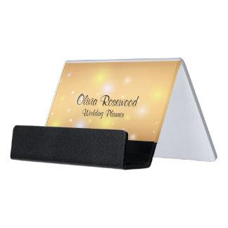 Wedding Planner Modern Bokeh Desk Business Card Holder