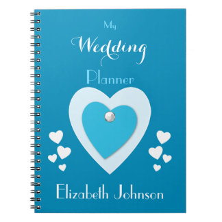 Wedding planner Notebook /  blue and white