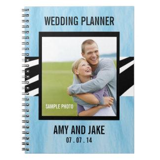 Wedding Planner Notebook Photo Zebra Blue