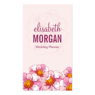 Wedding Planner - Pink Boutique Flowers Pack Of Standard Business Cards