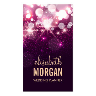Wedding Planner - Pink Glitter Sparkles Pack Of Standard Business Cards