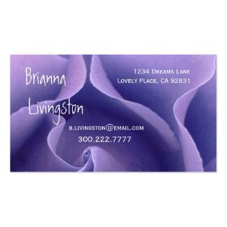 Wedding Planner PURPLE Rose Business Card Template