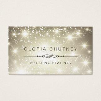 Wedding Planner - Sparkling Bokeh Glitter Business Card