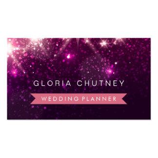 Wedding Planner - Trendy Pink Glitter Pack Of Standard Business Cards