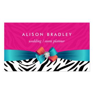 Wedding Planner - Trendy Pink Zebra Print Pack Of Standard Business Cards