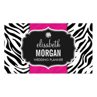 Wedding Planner - Trendy Zebra Print Hot Pink Pack Of Standard Business Cards