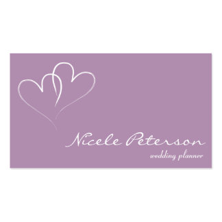 Wedding Planner - Two intertwined hearts Pack Of Standard Business Cards