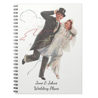 Wedding Plans Stylish Vintage Retro Journal Book