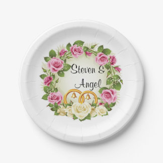 Wedding Plates 7 Inch Paper Plate