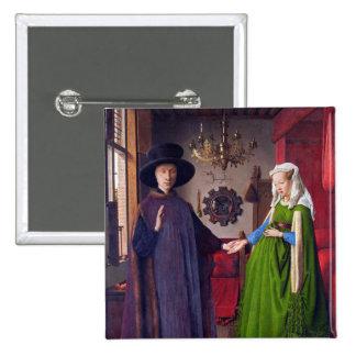Wedding Portrait by Jan Van Eyck Buttons