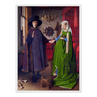 Wedding Portrait by Jan Van Eyck - Poster