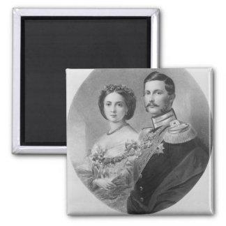 Wedding Portrait of Their Royal Highnesses Fridge Magnets