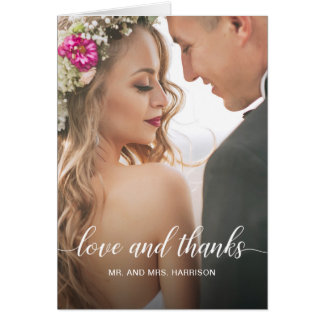Wedding Portrait Personalised Photo Thank You Card