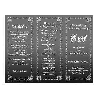 Wedding Program Folder Dark Gray 21.5 Cm X 28 Cm Flyer