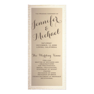 Wedding Program | Gold and Tan Rack Card