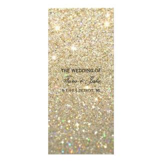 Wedding Program - Gold Glit Fab Rack Card