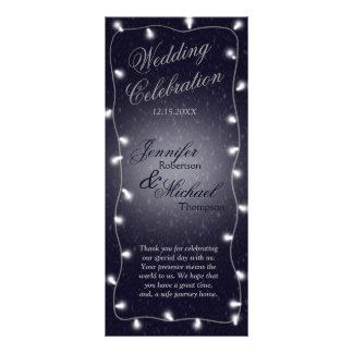 Wedding Program | Starry Night Custom Rack Cards