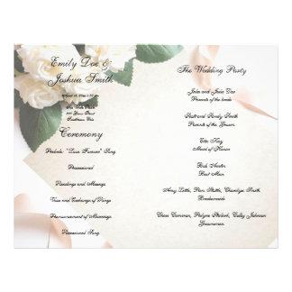 Wedding Program Template Ceremony Modern White Flyer