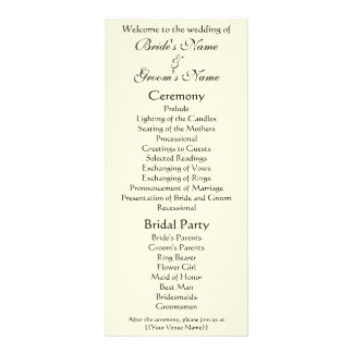 Wedding Program; The Kiss by Gustav Klimt Rack Card Template