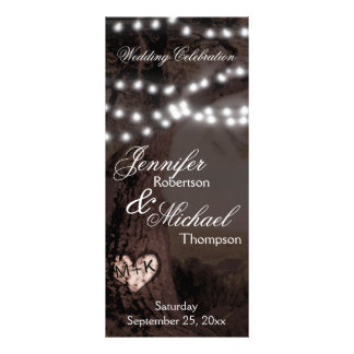 Wedding Program | Tree with Party Lights Rack Card