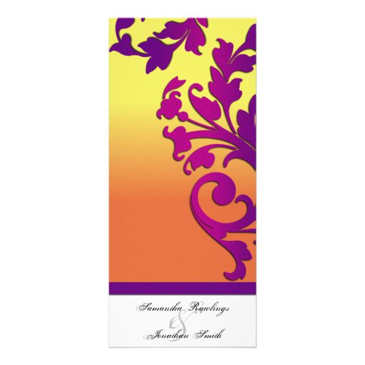 Wedding Program - Tropical Destination Floral Custom Rack Cards