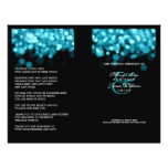 Wedding Program Turquoise Lights 21.5 Cm X 28 Cm Flyer