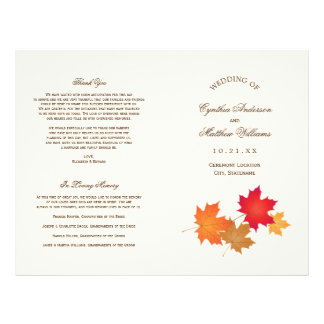 Wedding Programs Autumn Leaves Flyer