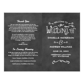 Wedding Programs | Chalkboard Charm 21.5 Cm X 28 Cm Flyer