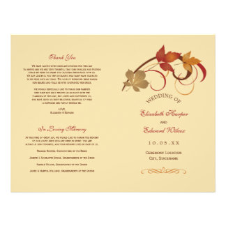 Wedding Programs Falling Leaves Flyer