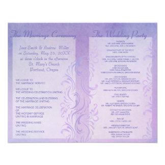 Wedding programs - Plum 11.5 Cm X 14 Cm Flyer
