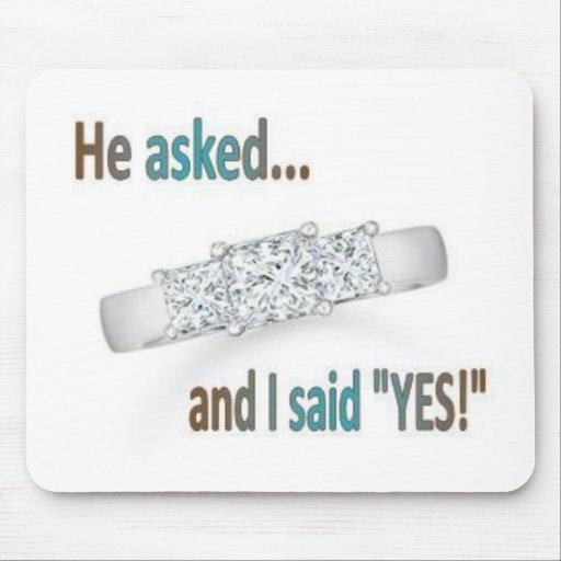 Wedding Proposal Mousepads