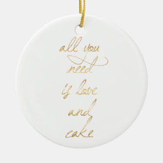 wedding quote, gold, love, romance, romantic gifts ceramic ornament