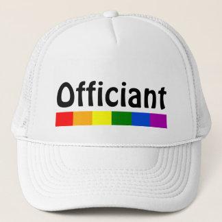 Wedding Rainbow Flag Banner Officiant Trucker Hat