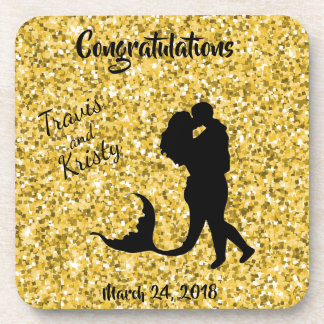 Wedding Reception Anniversary Party Gold Coasters