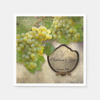 Wedding Reception Bridal Shower Vineyard Winery Disposable Serviette