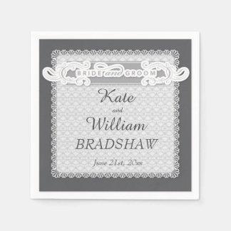 Wedding Reception Bride/Groom PAPER NAPKINS