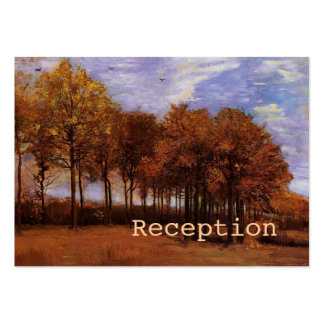 Wedding reception cards for fall weddings. pack of chubby business cards
