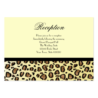 Wedding Reception Cards Leopard Print Business Card Templates