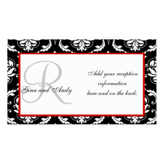 Wedding Reception Invitation Insert Cards Pack Of Standard Business Cards