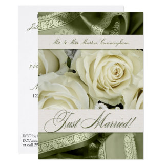 Wedding Reception Invite and Marriage Announcement