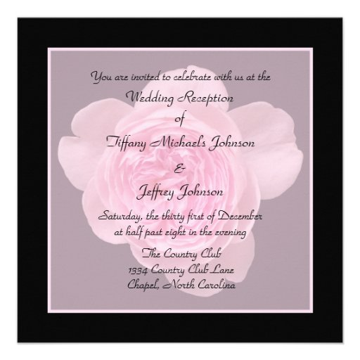 Standard Wedding Invite Size for best invitation example